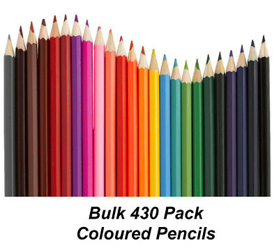 BULK 430 Pack Colour / Coloured Pencils Round Grip Art Colouring Drawing Kids