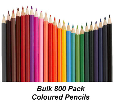 BULK 800 Pack Colour / Coloured Pencils Round Grip Art Colouring Drawing Kids