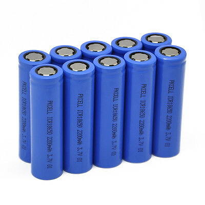 24 x ICR 18650 Lithium Rechargeable Vape Mod Battery 2200mAh 3.7V Cell PKCELL