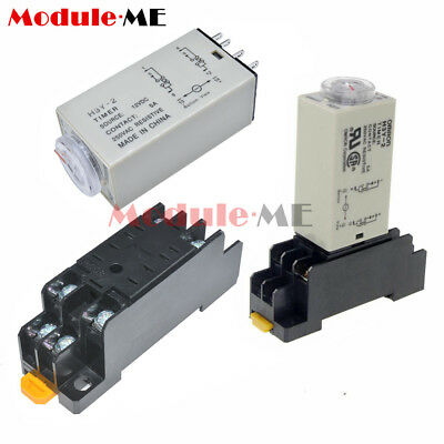 H3Y-2 AC 220V 110V DC12V 24V Delay Timer Time Relay Electricity H3Y-2 & Base UK