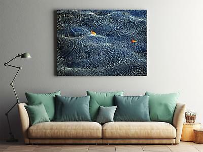 Framed Canvas Stretched Print Water Surface Ripple Wave Drops