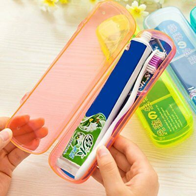 Portable Plastic Travel Toothbrush Toothpaste Storage Box Cover Protect