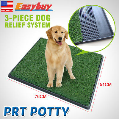 2018 Pet Potty Trainer Grass Mat Dog comfort Train Pee Patch Pad Indoor&Outdoor