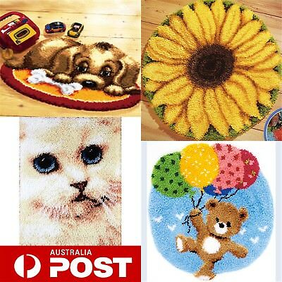 DIY Latch Hook Kits  Needlecrafts Gift 20'' Rug Cute Animals Carpet 4 models