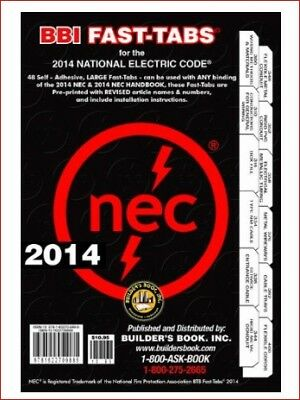 2014 National Electrical Code Book Tabs Grounding Bonding Wiring Materials Fire