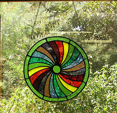 Spring Four Seasons Medieval Stained Glass Roundel