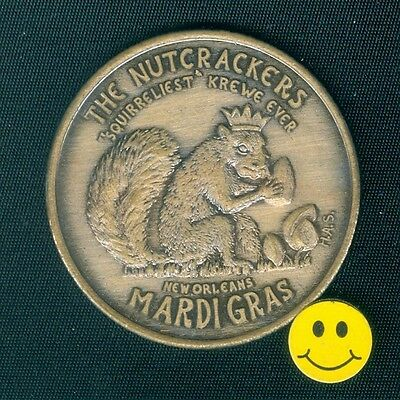 1967 SQUIRREL - Antique Bronze New Orleans Mardi Gras Doubloon Coin ( H.A.S. )