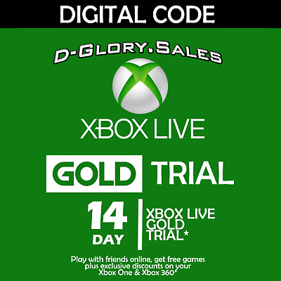 Xbox Live 14 Day (2 Week) Trial Gold Digital Code (Global)