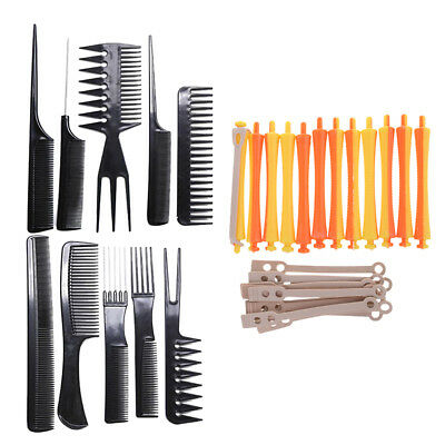 Salon Hairdressing Barber Tools Set Hair Curling Perm Rod Hairstyling Combs