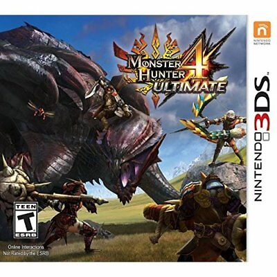 Monster Hunter 4 Ultimate Standard Edition Nintendo For 3DS RPG With Manual 5E