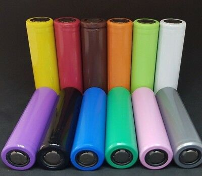 18650 Battery wraps pre cut Heat Shrink with **FREE** new insulator Gaskets