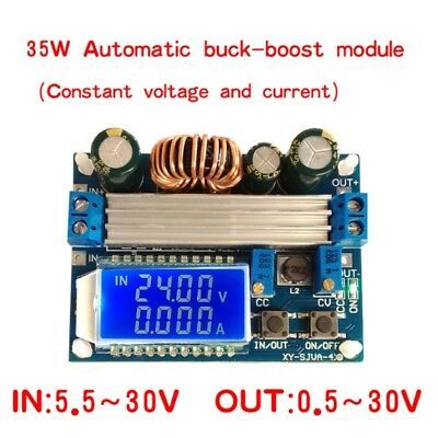 4A Buck-Boost Converter Module Adjustable Buck Boost Board With LCD Display Hot