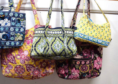 5 Vera Bradley Women Bag Lot Pink Green Yellow Multi-color Floral Assorted Sizes