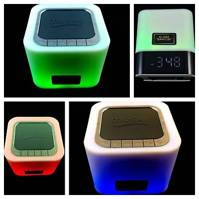 Alsafa Smart Quran Speaker & Nasheed Box, Touch Control Lamp, Bluetooth Speaker,