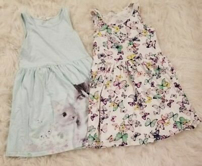 H&M Girl's 6-8y spring dress lot 2 pc