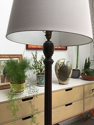 Antique mahogany carved standard lamp vintage wooden floor lamp antique mahogany carved standard lamp vintage wooden floor lamp aloadofball Image collections