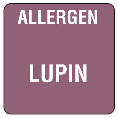 Food Allergen Labels Lupin - Roll of 500 - Food Allergy Labels