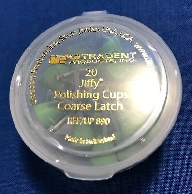 Ultradent Jiffy Polishing Cups Coarse Latch - Lot of 20 Cups - Reference: UP890