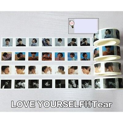 New KPOP BTS LOVE YOURSELF 轉 Tear V Washi Masking Tape Album Diary Scrapbook DIY