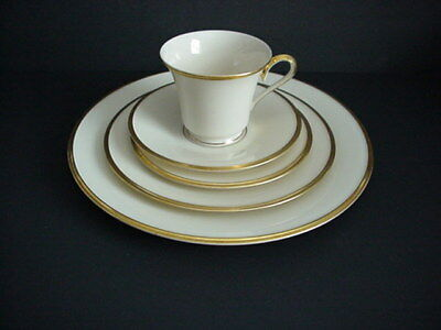 Lenox Eternal 5 Piece Place Setting Dinner Plate Salad Bread Cup & Saucer