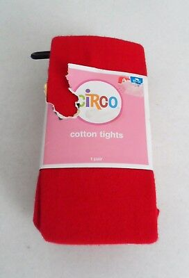 Girls Size 12 14  Red Cotton Tights 1 Pair New ~ Circo