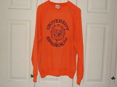 Vintage 80's thin Sweatshirt raglan XL University of Absarokee made in USA