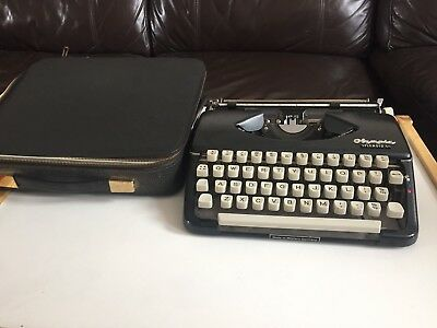 Vintage Olympic Splendid 66 typewriter + case ** REDUCED AND FREE POSTAGE**