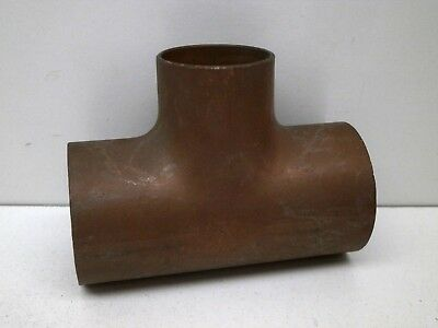 "1-1/4"" x 1-1/4"" x 1"" Copper Pipe Reducing Union Tee Sweat Plumbing Fitting"