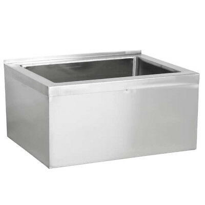 """33"""" Stainless Steel NSF One Compartment Floor Mop Sink - 28"""" x 20"""" x 12"""" Bowl"""