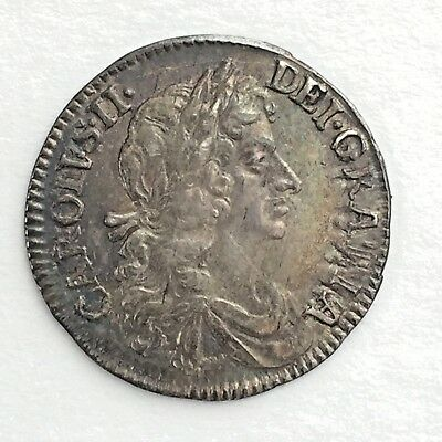 1679 Maundy Fourpence, Almost Uncirculated, Superb, Charles II