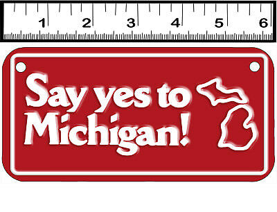 2 HOLE BICYCLE STATE LICENSE PLATE-MICHIGAN SAY YES