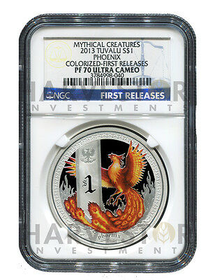 2013 Mythical Creature Series - Phoenix - Ngc Pf70 First Releases W/ogp - Pop=17