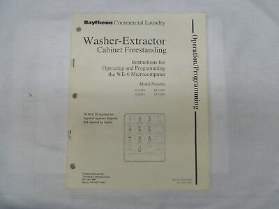 UNIMAC Washer-Extractor Cabinet Freestanding Operating & Programming Manual