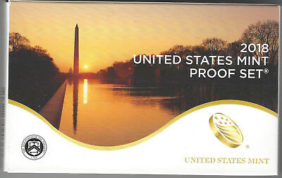 USA: United States Mint Proof Set 2018, 2,91 Dollar, 10 Münzen