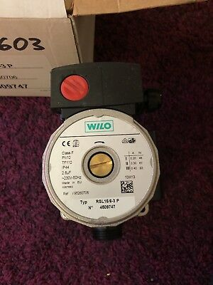 """WILO Thermostat Pumpe RS15/6-3 P 130 mm Ø 1"""" RS15/6 RS15/5 RSL RS15/5"""