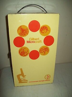 vintage Gilbert Microcraft Telescope with storage cabinet LOTS of extras