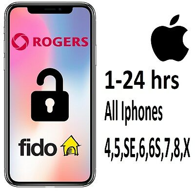 Rogers Fido Canada Iphone Unlock All Models - Instant - Same Day