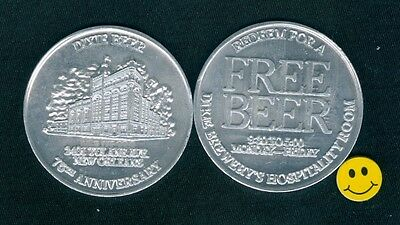 Dixie Beer 75th Anniversary  Redeem For Advertising Doubloon Token