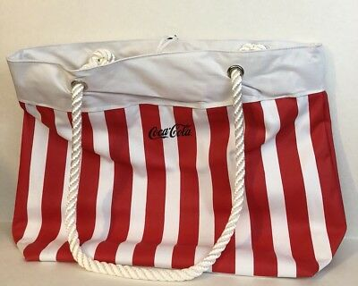 COCA COLA Large White Large Tote Bag NEW - Beach, Picnic, Camping