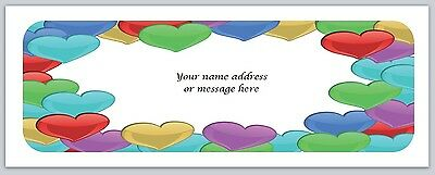 30 Personalized Return Address Labels Hearts Buy 3 get 1 free (bo572)