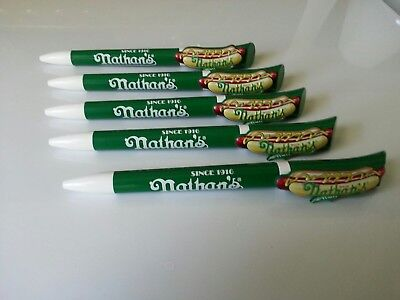 Nathan's Famous Hot Dogs Pens Pack of 5 Ballpoint Twist