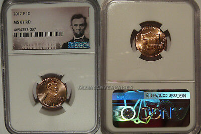 2017 P Lincoln SHIELD Cent 1c NGC MS 67 RD
