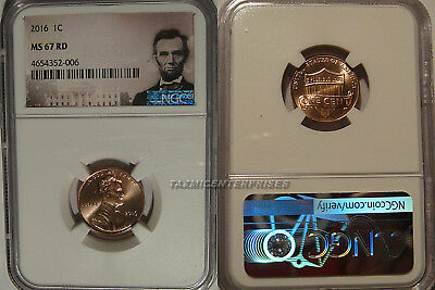 2016 P Lincoln SHIELD Cent 1c NGC MS 67 RD Lincoln Label