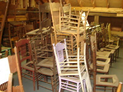 #68 - 100 Antique Pressed Back Chairs - Our Choice Some Painted - Restoration