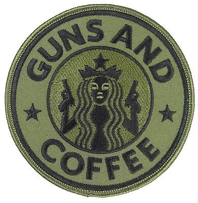 Us.army Gun And Coffee Patch