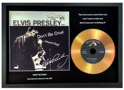 Elvis Presley 'Don't Be Cruel' Signed Photo Gold Cd Gift Collectable Memorabilia