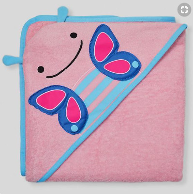 Skip Hop Baby Girls' Zoo Hooded Towel - Pink Butterfly - NEW IN BAG