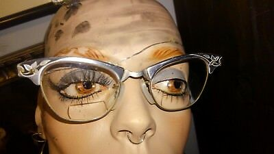 Art Craft, cat eye, hipster, granny glasses, eyeglasses, frames Aluminum (as is)