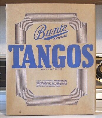 "c1950 Vintage BUNTE BROTHERS - CHICAGO ""TANGOS"" CANDY BARS STORE BOX"