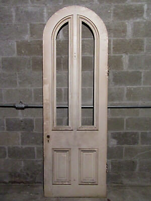 ~  Antique Victorian Arched Top Door ~  32 X 95  ~ Architectural Salvage  ~